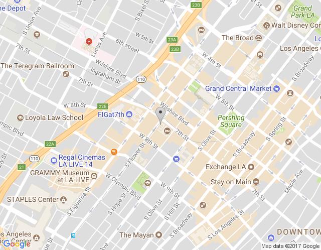 Map of Los Angeles Showroom