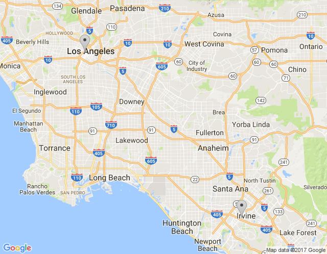 Map of Irvine Showroom